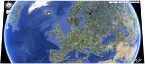 mapa de europa sector turistico